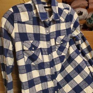 Plaid Shirt by Lovestitch blue & white
